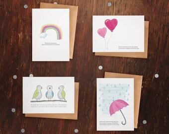 Motivational Greeting Cards – Set of 4