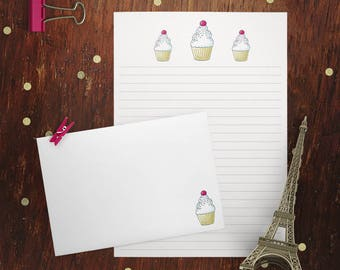 Yummy Cupcakes Letter Writing Set