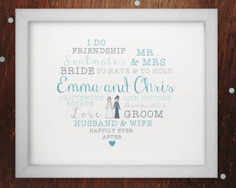 Wedding Word Art