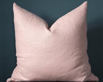 Blush Pink Pillow Cover - Rose Quartz Pillow Cover - Designer Pillows - Pink Linen Pillow - Trendy Pillow Cover - Blush Nursery - Valentine