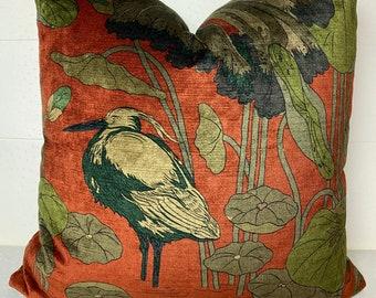 Orange Bird Pillow Etsy