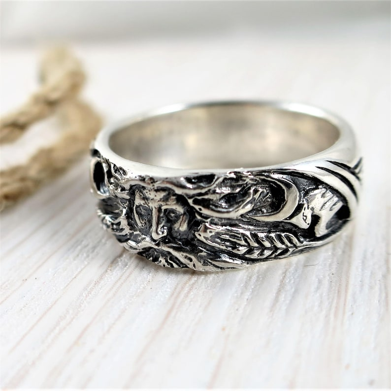 Veles ring slavic amulet unisex - Veles face ring - pagan amulet - viking's  ring - slavic ring