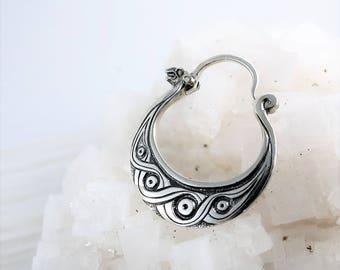 viking's earring Drakkar - earring for men - sterling silver - men's earring - north mythology earring - men's earring - cossack's earring