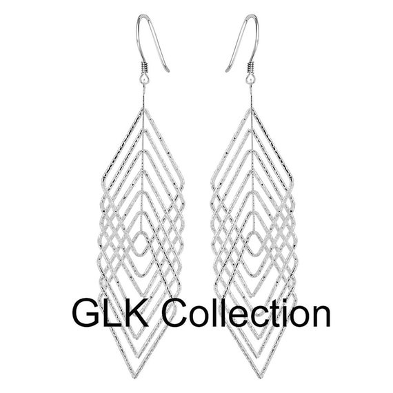 Gorgeous Latice Dangle Earrings Ginger Lyne Collection