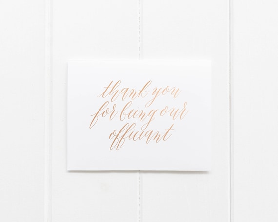 Thank You Officiant Card Thank You For Being Our Officiant Card Thank You Wedding Card Officiant Thank You Card Wedding Thank You Card