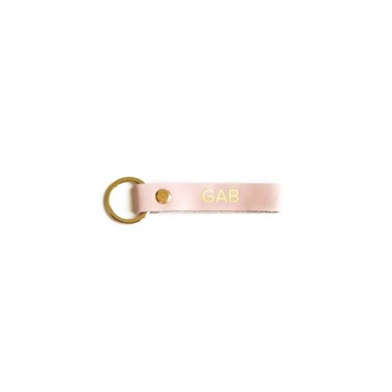 Monogram Leather Key Chain Pink Key Strap Pink Leather  442978d5b