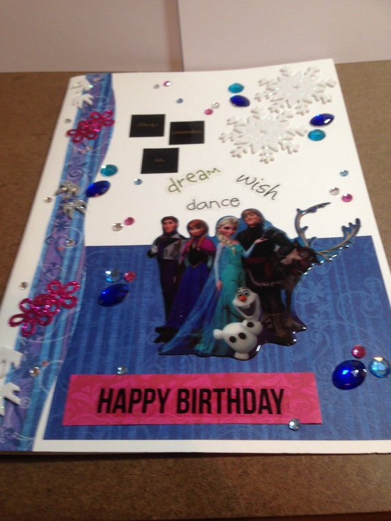 For The Frozen Few A4 Giant Birthday Card Elsa