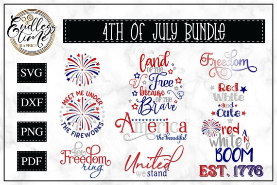4th Of July Svg Bundle America The Beautiful Svg Home Of Etsy