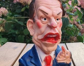 Spitting Image 'Pet Hates' squeaky toy of  David Owen/David Steel 1980's