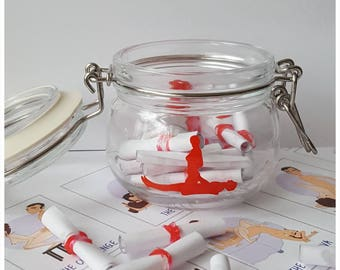 Kama Sutra Jar, Adult Date Night Jar, Sexy Gift, Couple gift, Adult Games, Erotic Fun, Karma Sutra Jar, Gifts for Him, Gift for Her, Fun Jar