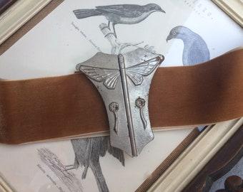 Art Nouveau dragonfly 1910's belt buckle insect floral jugendstil secession belle epoque