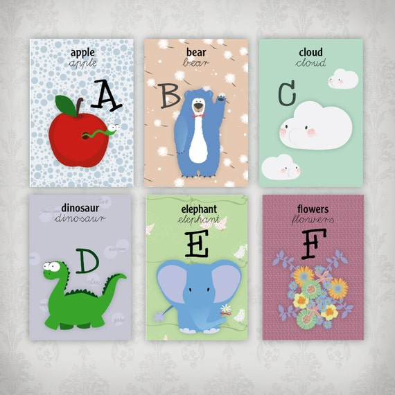 Karty Angielski Alfabet Do Wydrukowania Dla Szkol I Domu Etsy