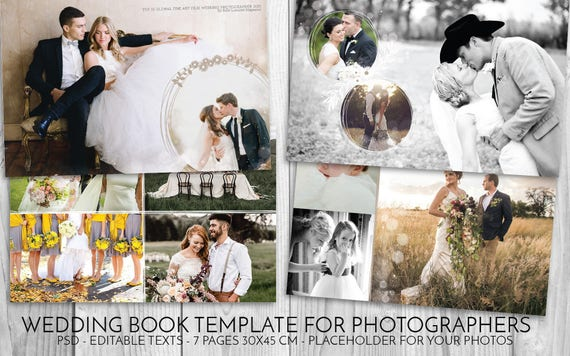wedding template psd wedding book photoshop template for etsy