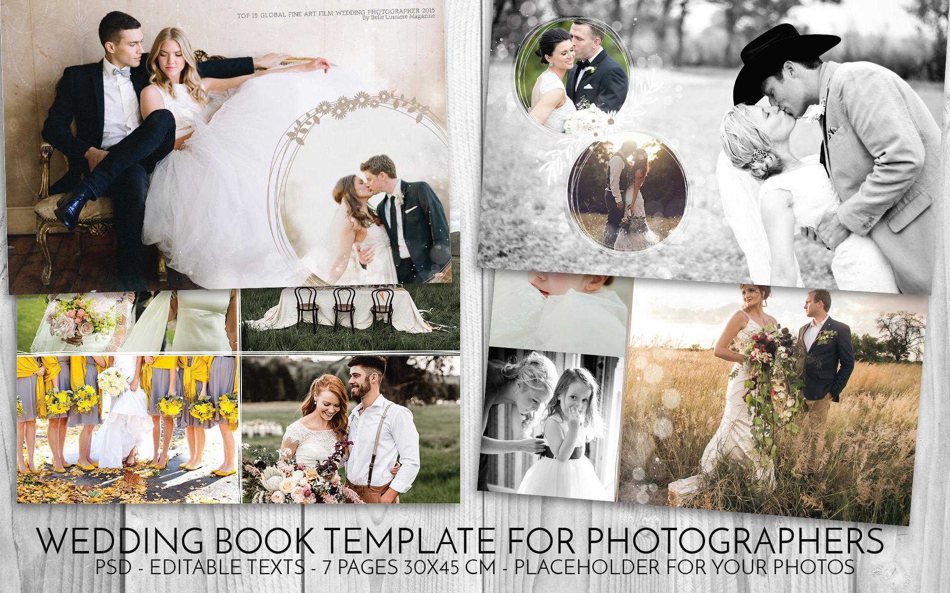 Hochzeit Vorlage Psd Hochzeit Buch Photoshop Vorlage für   Etsy