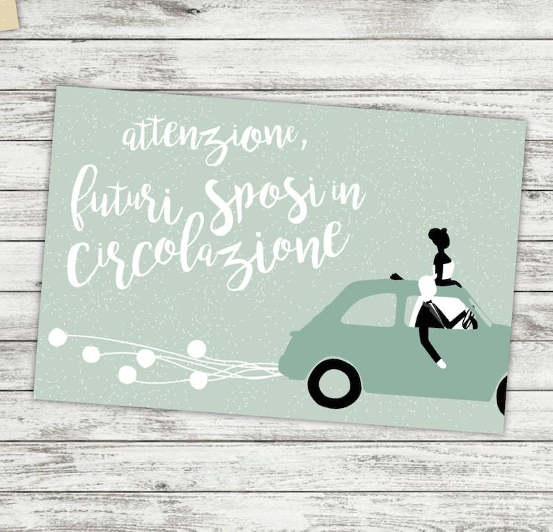 newlyweds driving, bride and groom illustration vintage car illustration car wedding invitations original illustration for wedding