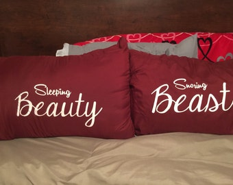 BEAUTY AND THE BEAST  THEMED PILLOWCASE SET