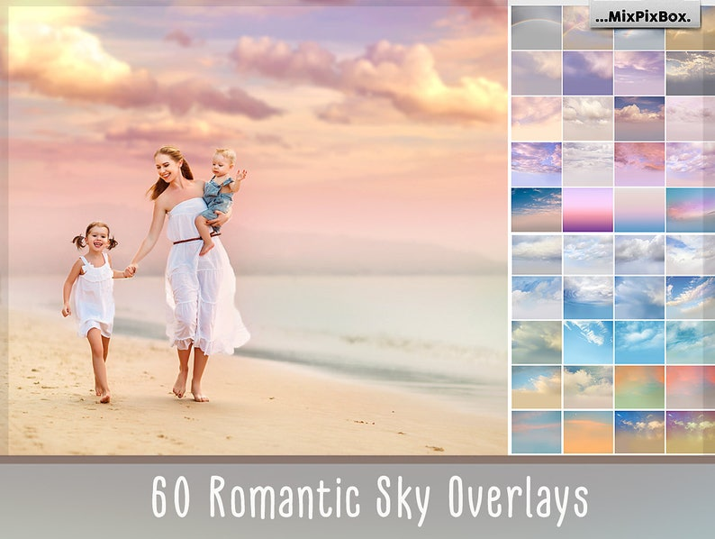 60 Romantic Sky Overlays Pastel sky sky overlay english image 1