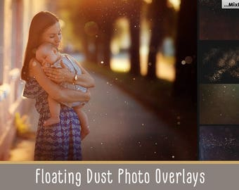 Floating dust photo overlays, dust photoshop overlay, dust particles effect,sparkling dust, fairy dust, dust particles in the air, photo