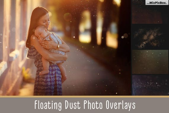 Floating dust photo overlays, dust photoshop overlay, dust