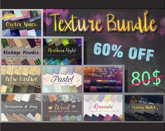 Texture bundle, sale, digital paper, Space, Star Night Sky, Star Background, Starry Night, string light, png clipart, starry textures