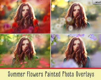 Summer overlays, Flower overlays, Painted overlays, Pastel, Photo art, Backdrop, Photoshop, Photo overlay, spring, romantic, branches