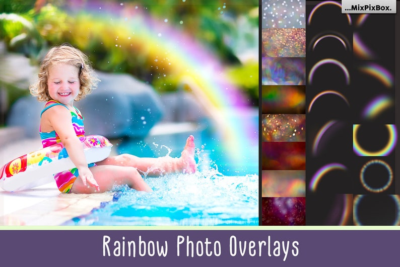 Rainbow Overlays, rainbow PNG, transparent, Realistic rainbow,Photo effect,  rainbow sky, photoshop actions, clipart, clip art, mini session