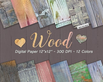 Wood Digital Paper, Rustic Wood Textures,Barn Wedding, Backgrounds, Distressed Wood Paper