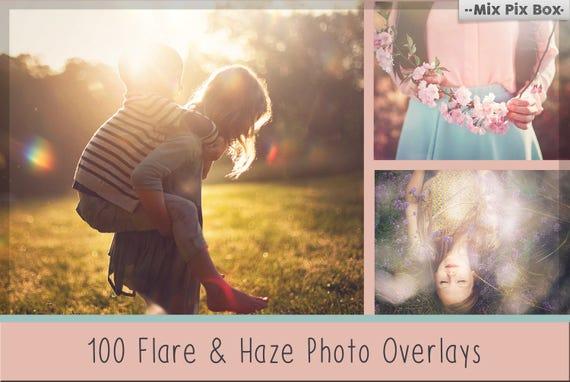 Sunlight flare photoshop overlays, Haze photo Overlay