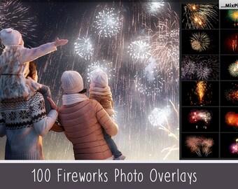 Realistic fireworks overlays, photoshop overlays, wedding fireworks, sky show, invitation background, party, fireworks photo, isolated