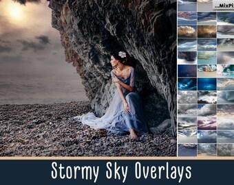 Stormy Sky Overlays, Dramatic sky, Rainy sky, overlay, english sky, lavender sky, overlays, beach sky, clouds, gimp, skies, lightning sky