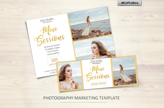 mini session template photography flyer template facebook template