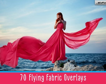 70 Flying fabric overlays, PNG, Flying dress overlay, flowing, cloth, wave, silk, waving, flying, satin, photoshop, veil,