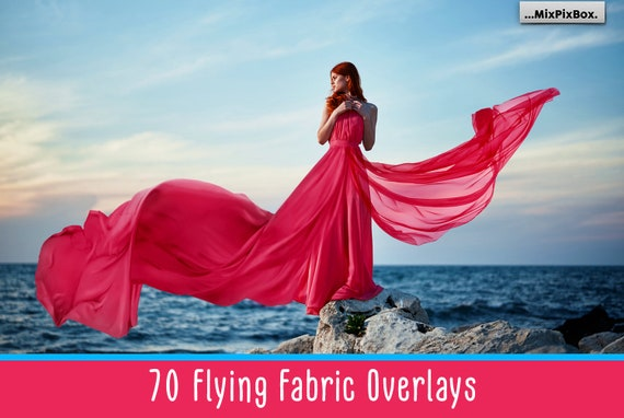 70 Flying fabric overlays, PNG, Flying dress overlay