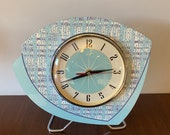 Handmade Mantle Mantle Clock from Royale - Midcentury French Atomic Retro style in a choice of 16 different colours