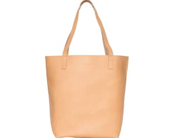 Retro Deer Hamburg Greta handbag Shopper Leather, tan