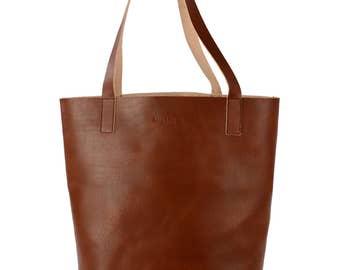 Retro Deer Hamburg Leni handbag Shopper Leather, cognac