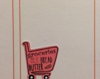 Grocery Cart stickers for Erin Condren Life Planner Filofax Gillio