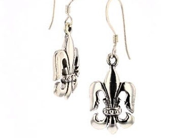 Fleur De Lis, Earrings, light weight, Iconic, Sterling Silver, Made In, New Orleans, Louisiana, French Symbol, Royalty,