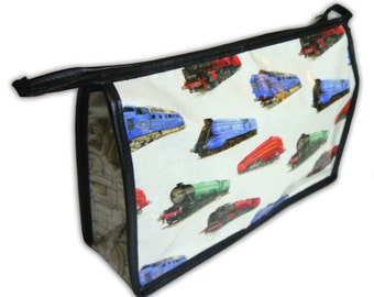 Classic steam and diesel engine  toiletry bag