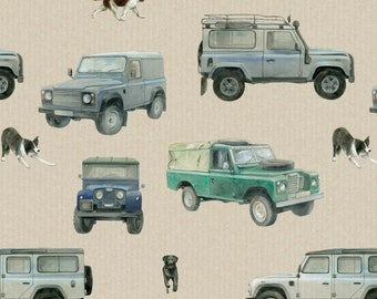 4 x 4  - off roader - farm - SUV  gift wrapping, 2 sheets with matching gift tags