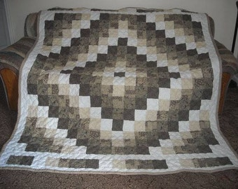Queen Quilt - Custom Made Quilt - Queen Size Quilt - Trip Around the World Quilt - Supply Your Own Fabrics