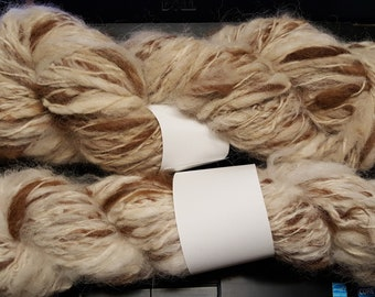 white Merlin/'s Handspun Yarn,100/% alpaca huacaya