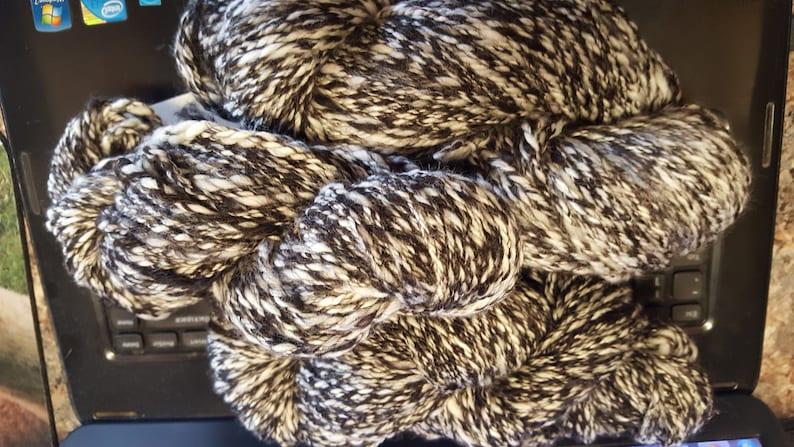 100/% Hand spun blend alpacawhite merino
