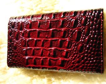 Crocodil wallet bordo
