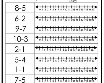 graphic regarding Printable Numberline known as Quantity line Etsy
