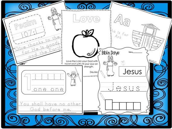 250 Bible Learning Worksheets Download. Preschool-Kindergarten. Bible Study  Worksheets in PDF files.