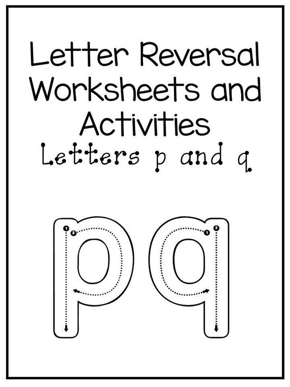 40 No Prep P And Q Letter Reversal Worksheets And Activities Etsy