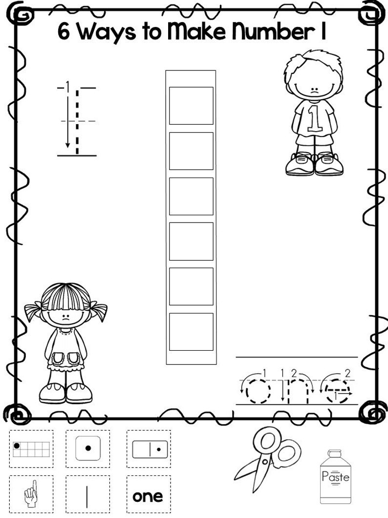 picture about Numbers 1-10 Printable called 10 Printable 6 Tactics towards Produce Figures Worksheets. Figures 1-10. Preschool-KDG Figures and Math.