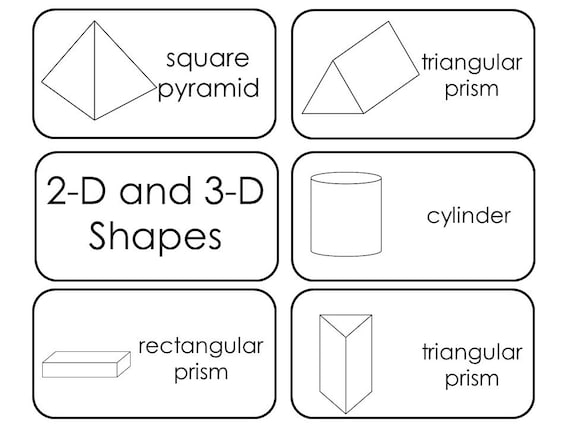 image relating to Printable 3d Shapes identify 29 Printable 2D and 3D Designs Flashcards. Preschool-3rd Quality Math.
