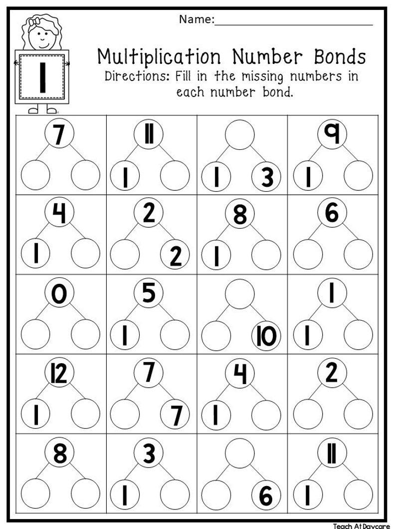 12 Printable Multiplication Number Bonds Worksheets ...